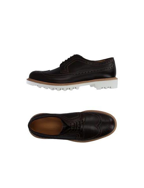 Giorgio Armani | Мужская Коричневая Обувь На Шнурках