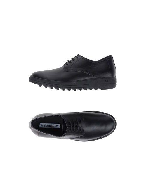 3.3  TREPUNTOTRE   Мужская Чёрная Обувь На Шнурках