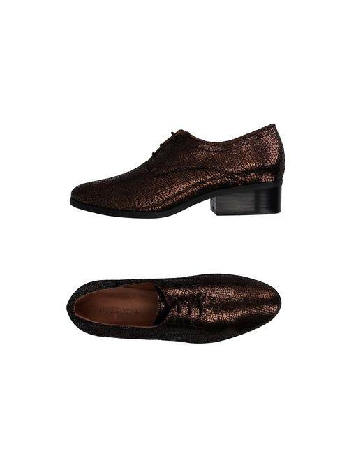 Sessun   Мужская Бронзовая Обувь На Шнурках