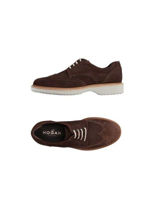 Hogan | Мужская Какао Обувь На Шнурках