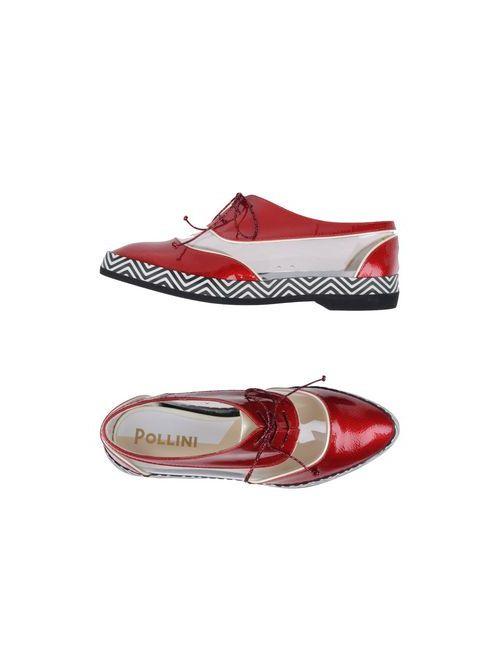 Pollini | Мужская Красная Обувь На Шнурках