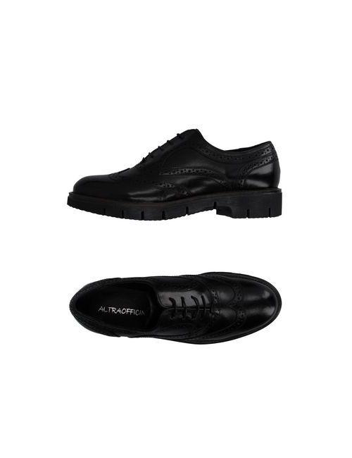 ALTRAOFFICINA | Мужская Чёрная Обувь На Шнурках