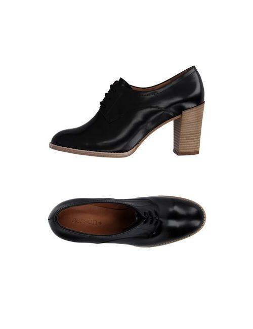 Sessun | Мужская Чёрная Обувь На Шнурках
