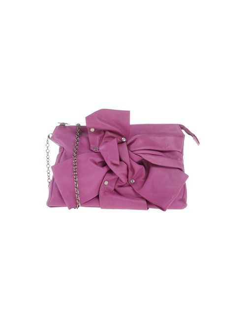Galliano | Женская Розовато-Лиловая Сумка На Руку