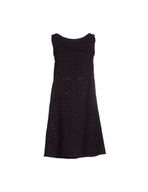 Laviniaturra | Женское Баклажанное Короткое Платье