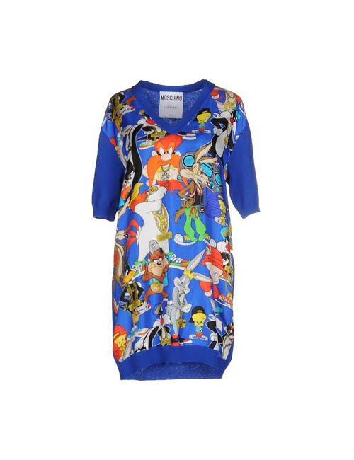 Moschino Couture | Женское Синее Короткое Платье