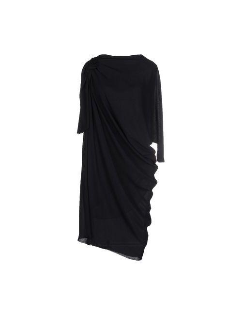 Lanvin | Женское Чёрное Платье До Колена