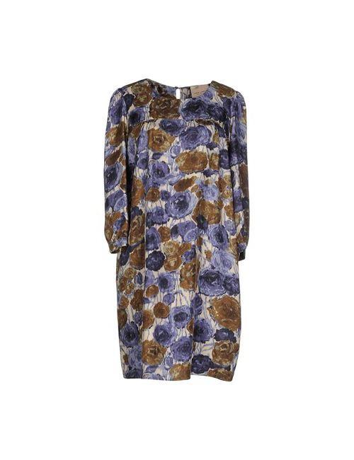 ERIKA CAVALLINI SEMICOUTURE | Женское Фиолетовое Короткое Платье