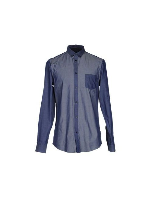 Tru Trussardi | Мужская Синяя Pубашка