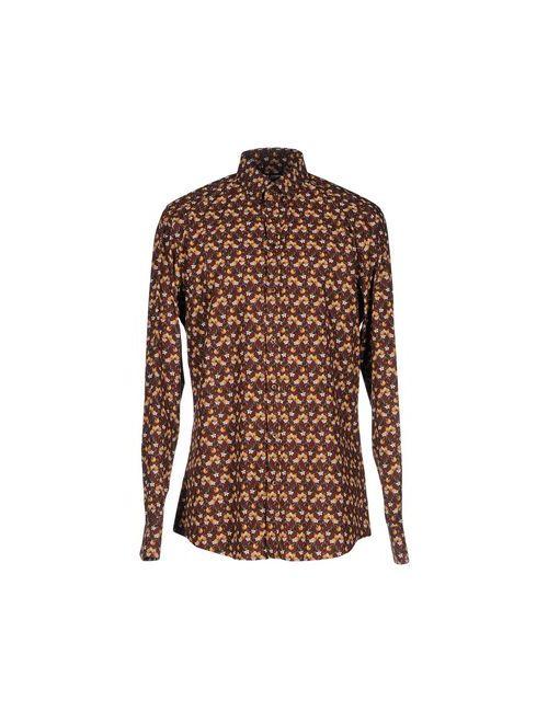 Dolce & Gabbana | Мужская Коричневая Pубашка