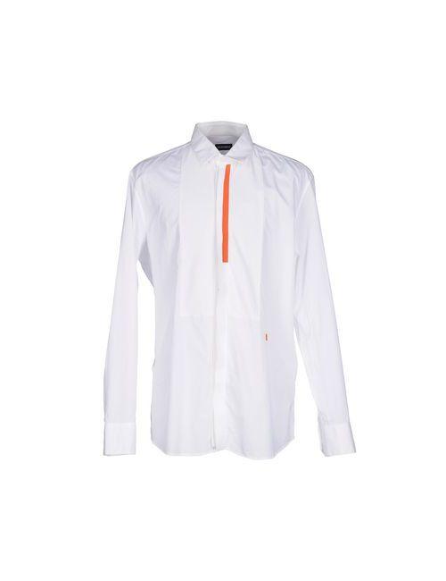 Bikkembergs | Мужская Белая Pубашка