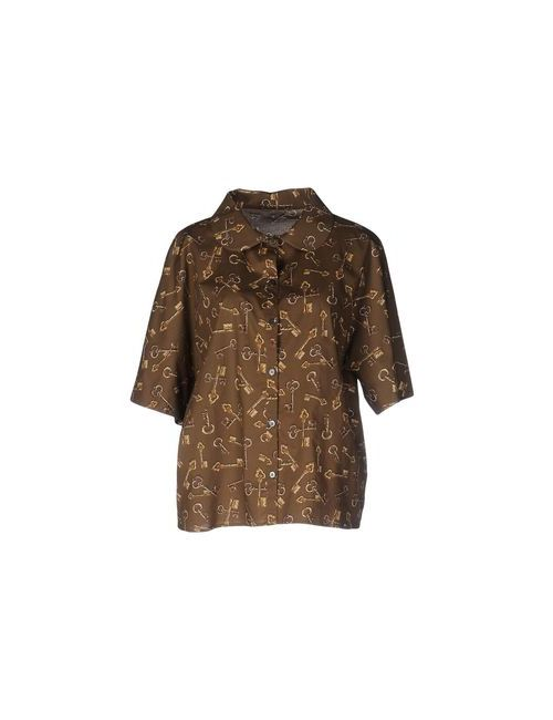 Dolce & Gabbana | Мужская Хаки Pубашка