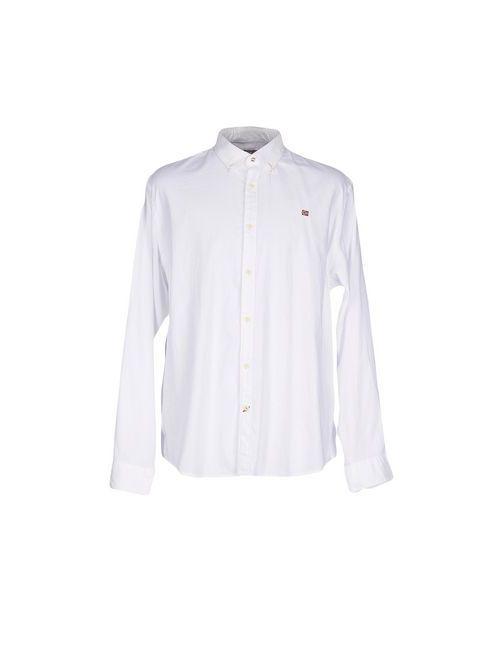 Napapijri   Мужская Белая Pубашка