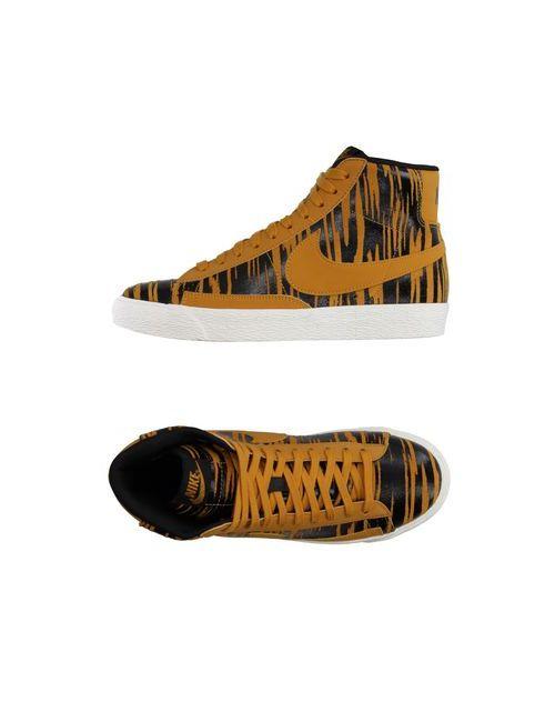 Nike | Женские Жёлтые Высокие Кеды И Кроссовки
