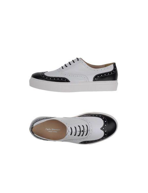 Paolo Simonini | Мужская Белая Обувь На Шнурках