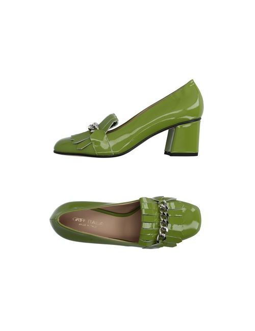 Griff Italia | Мужские Зелёные Мокасины