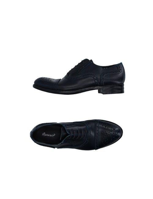 Rocco P.   Мужская Синяя Обувь На Шнурках