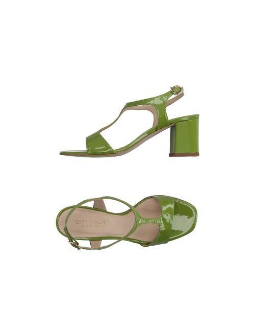 Griff Italia   Женские Зелёные Сандалии