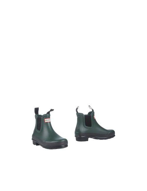 Hunter   Женские Зелёные Полусапоги И Высокие Ботинки