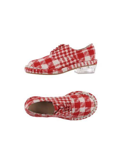 Simone Rocha   Мужская Красная Обувь На Шнурках