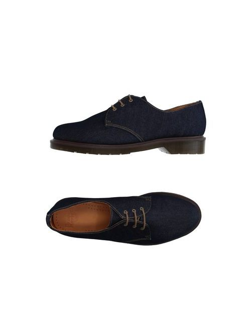 Dr. Martens   Мужская Синяя Обувь На Шнурках