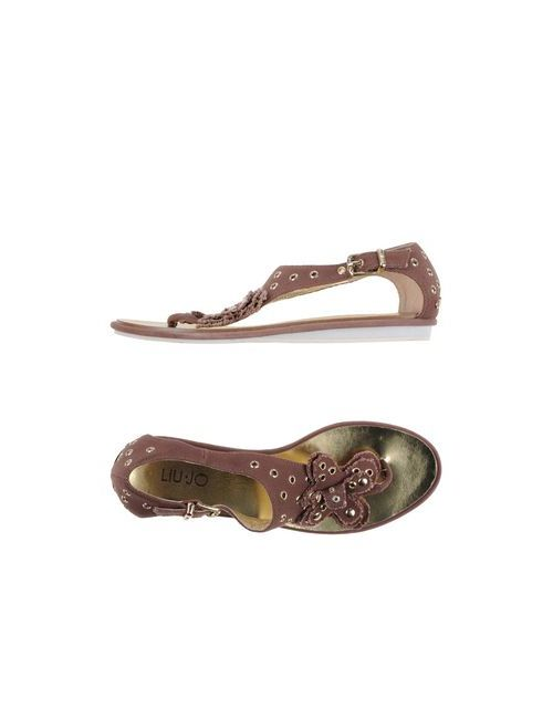 Liu •Jo Shoes | Женские Коричневые Вьетнамки