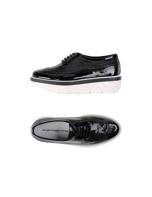 Fornarina | Мужская Чёрная Обувь На Шнурках