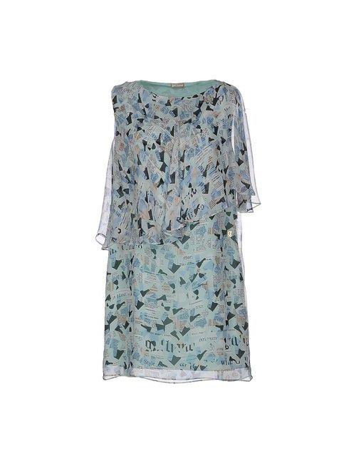 Galliano   Женское Зелёное Короткое Платье
