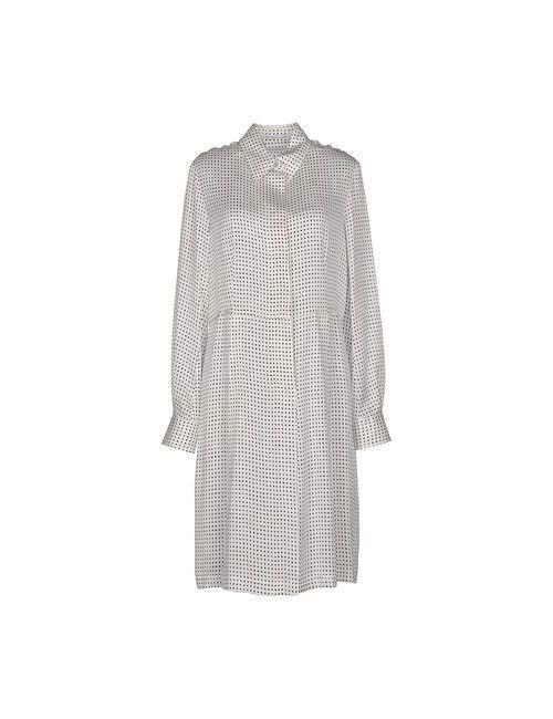 Agnona | Женское Белое Платье До Колена