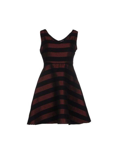 FANNY COUTURE | Женское Коричневое Короткое Платье