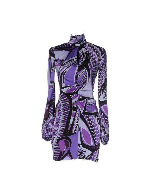 Emilio Pucci | Женское Фиолетовое Короткое Платье