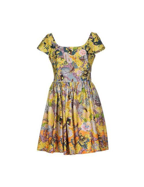 Mary Katrantzou | Женское Серое Короткое Платье
