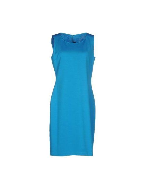 St. John | Женское Лазурное Короткое Платье