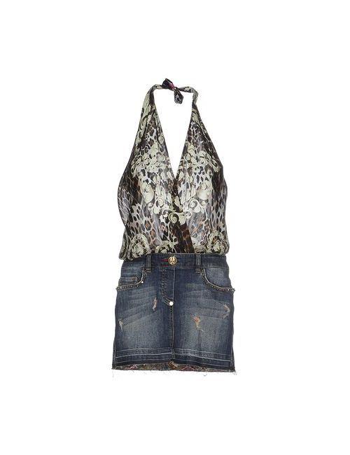 Philipp Plein Couture | Женское Синее Короткое Платье