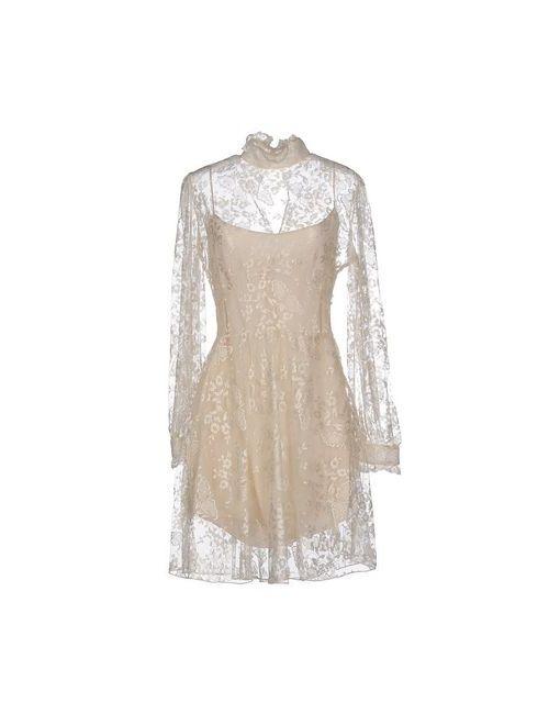 Blugirl Blumarine | Женское Бежевое Короткое Платье