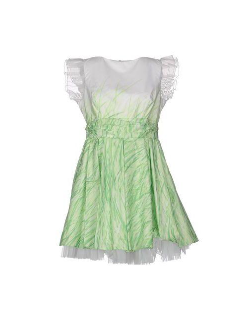 Mangano   Женское Зелёное Короткое Платье