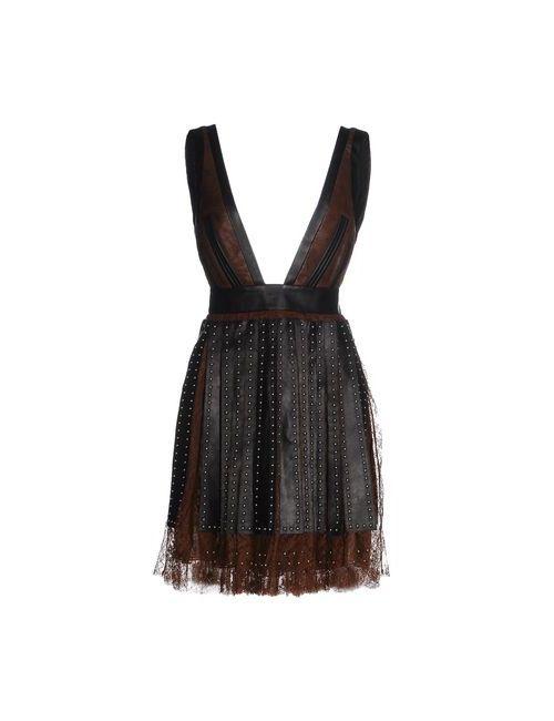 Givenchy | Женское Коричневое Короткое Платье