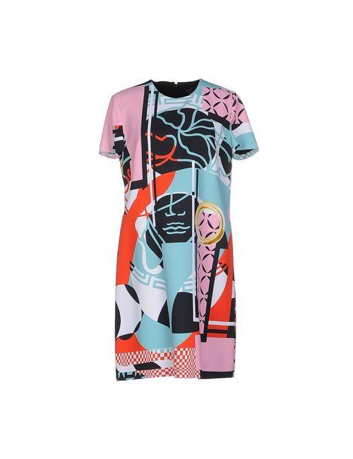 Versace   Женское Бирюзовое Короткое Платье