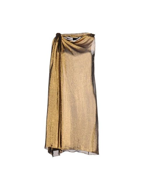 Lanvin | Женское Золотистое Короткое Платье