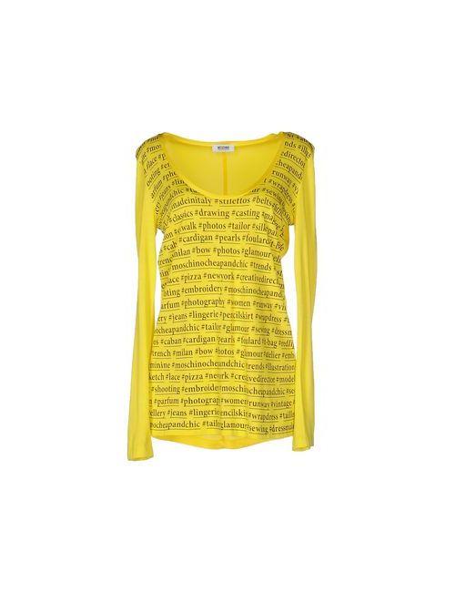 Moschino Cheap and Chic | Женская Жёлтая Футболка