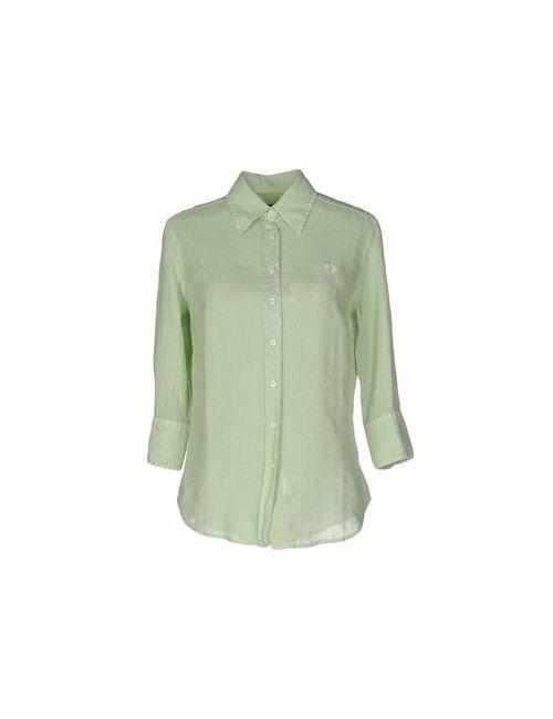 Fred Perry | Мужская Зелёная Pубашка