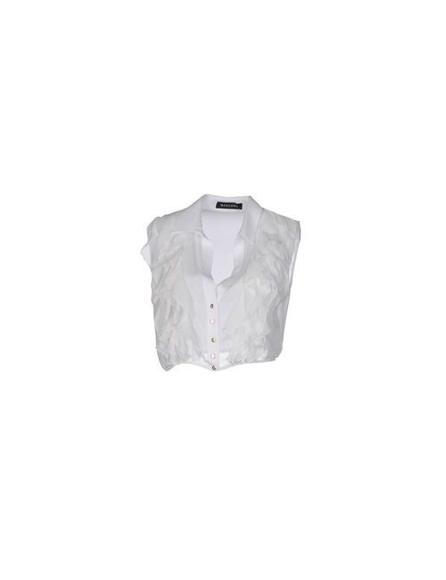 Mangano | Мужская Белая Pубашка