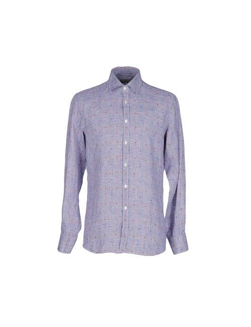 Canali | Мужская Синяя Pубашка