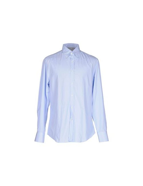 Brunello Cucinelli   Мужская Голуба Pубашка
