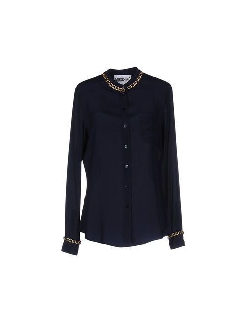 Moschino Couture | Мужская Синяя Pубашка