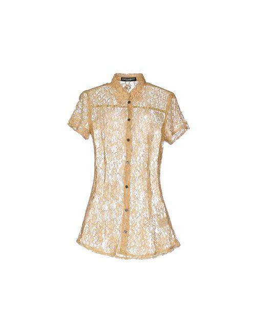 Dolce & Gabbana   Мужская Охра Pубашка