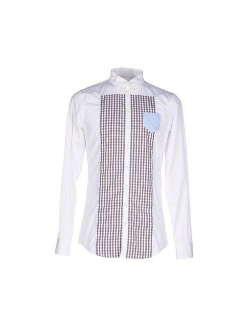 Dsquared2   Мужская Белая Pубашка