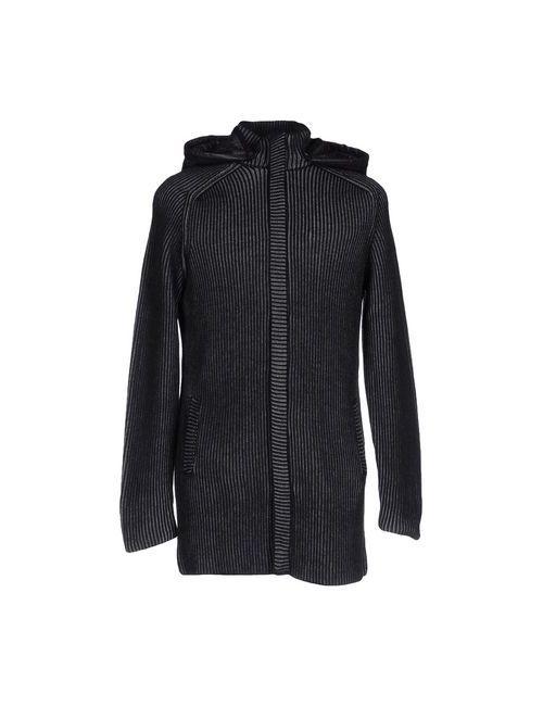 Vneck | Мужское Чёрное Пальто