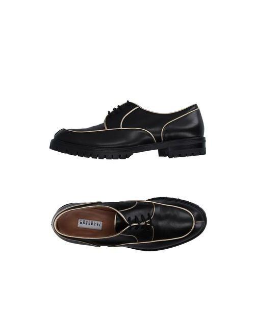Fratelli Rossetti   Мужская Чёрная Обувь На Шнурках