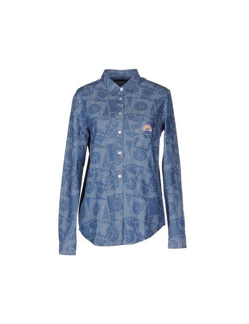 M.Grifoni Denim | Мужская Синяя Джинсовая Рубашка
